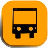 El icono del autobús, botón Imagen de archivo libre de regalías