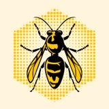 El el icono del avispón y simbólico stock de ilustración