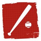 El icono del béisbol representa a Team Sport And Ballgame stock de ilustración