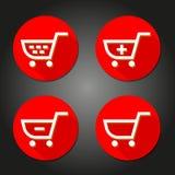 El icono del carro de la compra grande para ningunos utiliza Vector eps10 Imagen de archivo