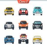 El icono del coche fijó 2 Imagen de archivo
