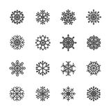 El icono del copo de nieve fijó 4, vector eps10 libre illustration