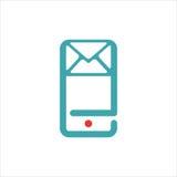 El icono del correo y del mensaje en smartphone defiende el ejemplo del vector Foto de archivo