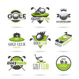 El icono del golf fijó 2 foto de archivo libre de regalías