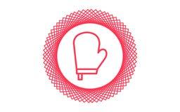 El icono del guante del horno firma ymbol stock de ilustración