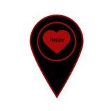 El icono del indicador con el corazón Ejemplo plano del vector libre illustration