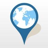 El icono del indicador del mapa grande para ningunos utiliza Vector eps10 Foto de archivo libre de regalías