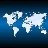 El icono del mapa del mundo grande para ningunos utiliza Vector eps10 Imágenes de archivo libres de regalías