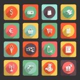El icono del plano universal fijó para el web y el App móvil Fotos de archivo libres de regalías