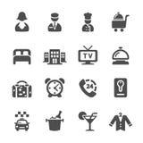 El icono del servicio de hotel fijó 6, vector eps10 stock de ilustración