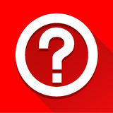 El icono del signo de interrogación grande para ningunos utiliza Vector eps10 Fotos de archivo libres de regalías