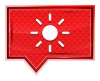 El icono del sol del brillo de la pantalla brumoso subió botón rosado de la bandera stock de ilustración