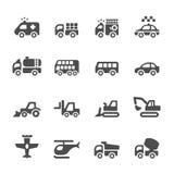 El icono del transporte y de los vehículos fijó 4, vector EPS 10 libre illustration