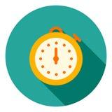 El icono del vector del cronómetro, deportes mira el icono, símbolo de la velocidad Icono largo moderno, plano del vector de la s stock de ilustración