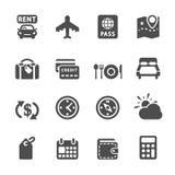 El icono del viaje y de las vacaciones fijó 6, vector eps10 stock de ilustración
