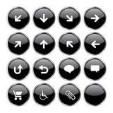 El icono del Web fijó 2 (el tope negro 16 Foto de archivo libre de regalías