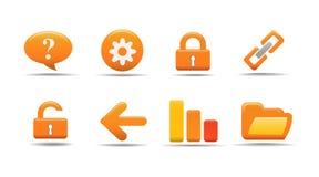 El icono del Web fijó 2| Serie de la calabaza Foto de archivo libre de regalías