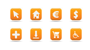 El icono del Web fijó 4| Serie del albaricoque Imagen de archivo libre de regalías