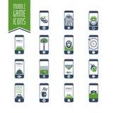 - El icono en línea de los juegos del deporte fijó - 2 móviles Fotos de archivo libres de regalías