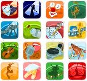 El icono fijó 05 Imagenes de archivo
