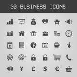 Sistema del icono de los elementos del diseño de negocio Imagenes de archivo