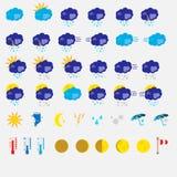 El icono plano del tiempo fijó en un fondo blanco libre illustration