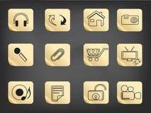 El icono simple drenó en etiqueta engomada Imágenes de archivo libres de regalías