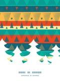 El ikat vibrante del vector raya el árbol de navidad Foto de archivo libre de regalías
