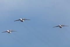 El Ilyushin Il-76 (nombre de la información de la OTAN: Sincero) Fotografía de archivo
