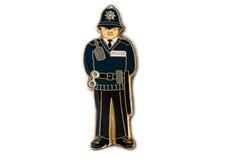 El imán del recuerdo - policía de Londres Foto de archivo libre de regalías