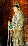 El imag de la diosa Guan Yin para la adoración Imagen de archivo libre de regalías