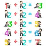 El incremento del número a partir del 3 hasta 7 con la buena pantomima libre illustration