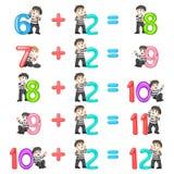 El incremento del número a partir del 8 hasta 12 con la buena pantomima stock de ilustración