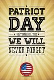 El indicador americano redacta el día el 11 de septiembre de 2001 del patriota Imagen de archivo