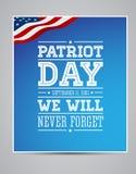 El indicador americano redacta el día el 11 de septiembre de 2001 del patriota Fotografía de archivo libre de regalías
