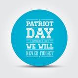 El indicador americano redacta el día el 11 de septiembre de 2001 del patriota Imágenes de archivo libres de regalías