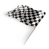 El indicador Checkered destruyó Fotos de archivo
