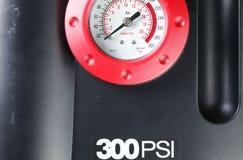 El indicador del compresor de aire representa el concepto del fondo de la herramienta del indicador Foto de archivo