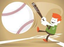 El individuo corporativo golpea un home run Foto de archivo libre de regalías