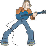 El individuo de la guitarra ilustración del vector