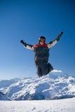 El individuo de salto feliz Imágenes de archivo libres de regalías