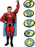El individuo de Superlifting, puede levantar cualquier cosa. ilustración del vector