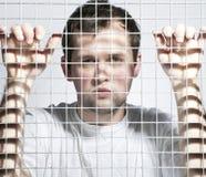 El individuo en cárcel Fotografía de archivo