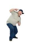 El individuo envejecido centro aprende bailar rap Imágenes de archivo libres de regalías