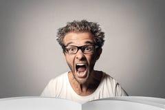 El individuo está gritando Imagen de archivo libre de regalías