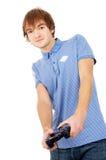 El individuo juega a los videojuegos Imagen de archivo