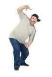El individuo maduro blanco le gusta bailar el hip-hop Imagenes de archivo