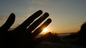 El individuo mira la mano y los fingeres almacen de metraje de vídeo