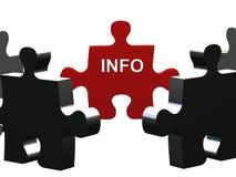El Info desconcierta el pedazo Fotografía de archivo