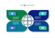 El infographics de los pasos puede ilustrar un trabajo de la estrategia, del flujo de trabajo o del equipo ilustración del vector